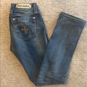 New Rock Revival Size 28 Alanis Straight Leg Jeans